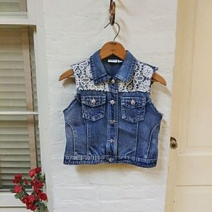 Girl's Denim Vest L